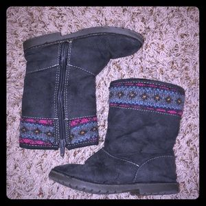 3/$15* Girls fur lined suede gray boots